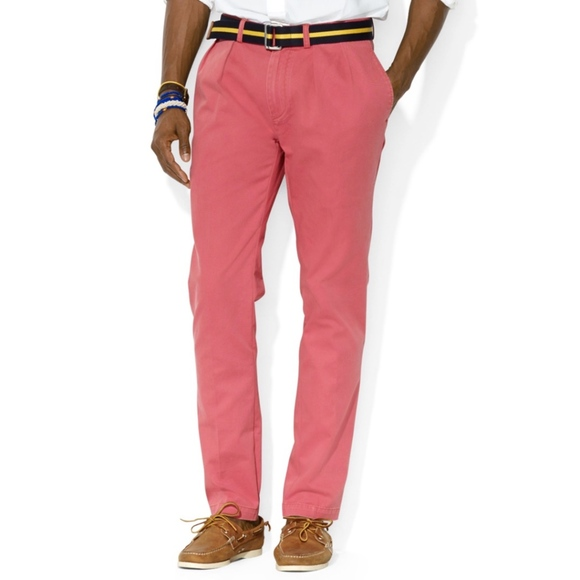 30be133e4d Men's Ralph Lauren Chino Pant in Salmon